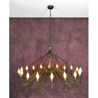 NAMAT 1193 | Claris Namat luster svjetiljka 18x E14 antik brončano