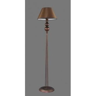 NAMAT 1206/3 | Bert Namat podna svjetiljka 170cm s prekidačem 1x E27 smeđe, bijelo