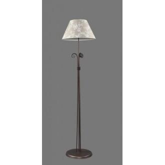 NAMAT 1212/8 | Boren Namat podna svjetiljka 175cm s prekidačem 1x E27 smeđe, višebojno