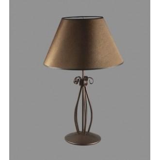 NAMAT 1223/3 | Negros Namat stolna svjetiljka 62cm s prekidačem 1x E27 smeđe, bijelo