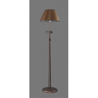 NAMAT 1224/3 | Negros Namat podna svjetiljka 175cm s prekidačem 1x E27 smeđe, bijelo