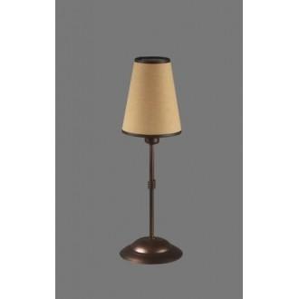NAMAT 1233/5 | Teri Namat stolna svjetiljka 40cm s prekidačem 1x E14 smeđe, bež, bijelo