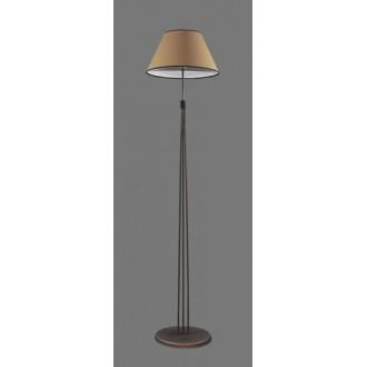 NAMAT 1234/5 | Teri Namat podna svjetiljka 175cm s prekidačem 1x E27 smeđe, bež, bijelo