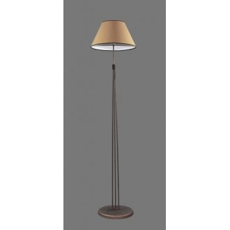 NAMAT 1236/5 | Irma Namat podna svjetiljka 175cm s prekidačem 1x E27 smeđe, bež, bijelo