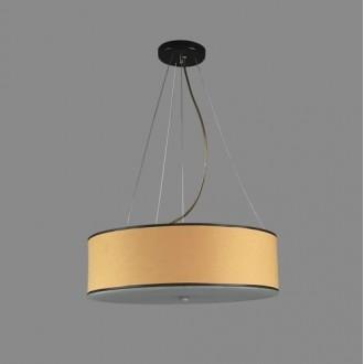 NAMAT 1252/5 | Laron Namat visilice svjetiljka 3x E27 bež, bijelo, crno