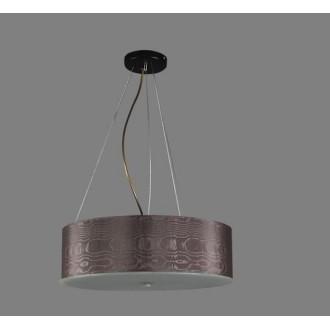 NAMAT 1252/7 | Laron Namat visilice svjetiljka 3x E27 smeđe, bijelo, crno
