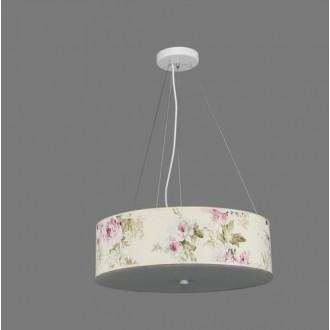 NAMAT 1252/9 | Laron Namat visilice svjetiljka 3x E27 višebojno, bijelo