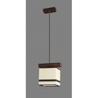 NAMAT 1263/2 | Barsa2 Namat visilice svjetiljka 1x E27 bijelo, smeđe