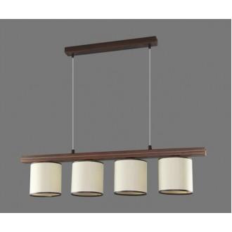 NAMAT 1266/17 | Barsa17 Namat visilice svjetiljka 4x E27 bijelo, smeđe