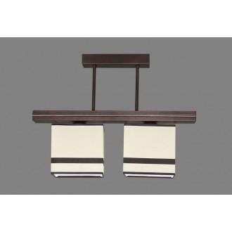 NAMAT 1268/2 | Barsa2 Namat stropne svjetiljke svjetiljka 2x E27 bijelo, smeđe