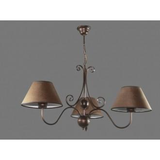NAMAT 1302/3 | Negros Namat luster svjetiljka 3x E27 smeđe, bijelo