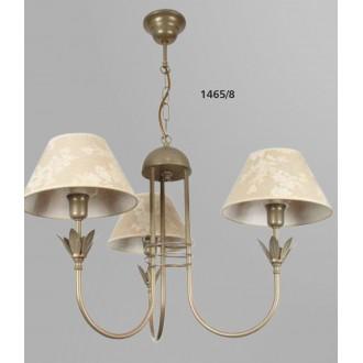 NAMAT 1465/8 | Zeta Namat luster svjetiljka 3x E14 antik bakar, bež