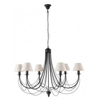 NAMAT 2090 | Alina_Alba Namat luster svjetiljka 6x E14 crno, bijelo