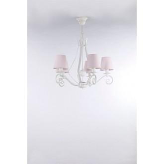 NAMAT 3503 | Szedar Namat luster svjetiljka 5x E14 bijelo mat, svjetlo ružičasto