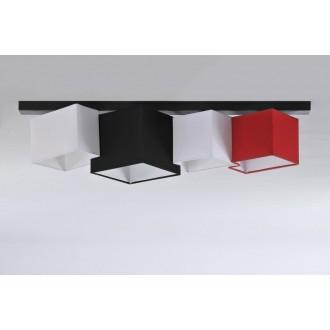 NAMAT 3720 | N4K-Geometria Namat stropne svjetiljke svjetiljka 4x E27 crno, bijelo, crveno