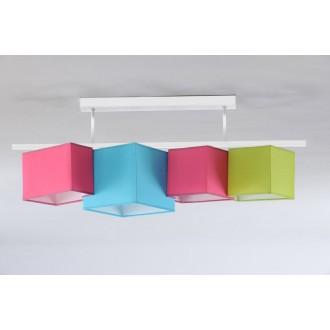 NAMAT 3732 | N4K-Geometria Namat stropne svjetiljke svjetiljka 4x E27 ružičasto, tirkiz, pistacija