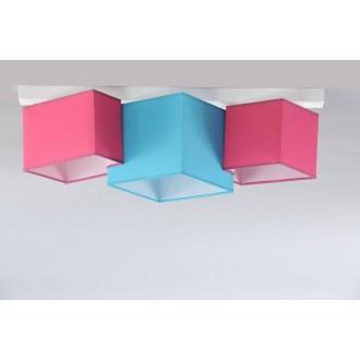 NAMAT 3760 | N3K-Puzzle Namat stropne svjetiljke svjetiljka 3x E27 bijelo, tirkiz, ružičasto