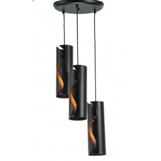 NAMAT 3790 | Burn Namat visilice svjetiljka 3x E27 crno mat