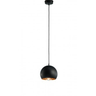 NAMAT 3831 | Fauna Namat visilice svjetiljka 1x E27 crno mat, crveni bakar