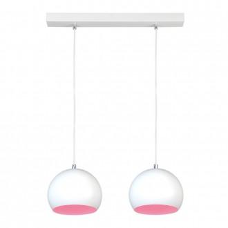 NAMAT 3845 | Luna Namat visilice svjetiljka 2x E27 bijelo, ružičasto
