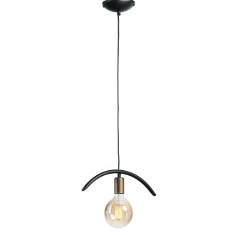 NAMAT 3899 | FalaNa Namat visilice svjetiljka 1x E27 crno mat, antik zlato