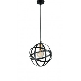NAMAT 4012 | Wieden Namat visilice svjetiljka 1x E27 crno mat, zlatno