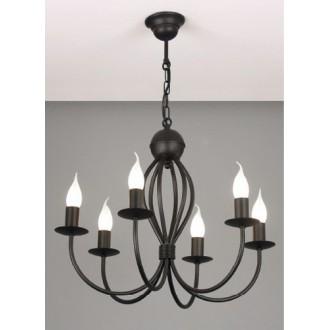 NAMAT 662 | Surmia Namat luster svjetiljka 6x E14 crno mat