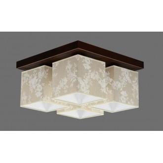 NAMAT 711/8 | Furia Namat stropne svjetiljke svjetiljka 4x E27 smeđe, višebojno, bijelo