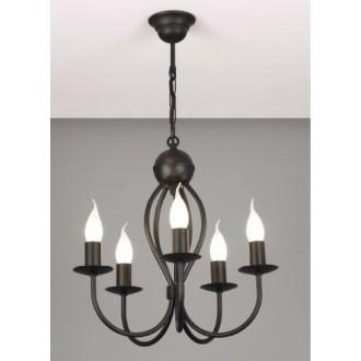 NAMAT 719 | Surmia Namat luster svjetiljka 5x E14 crno mat