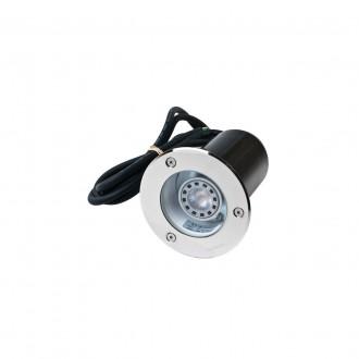 NORLYS 1550ST | Rena-NO Norlys ugradbena svjetiljka Ø85mm 1x GU10 375lm 3000K IP68 kromni mat