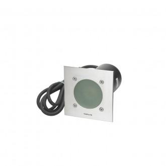 NORLYS 1555ST | Rena-NO Norlys ugradbena svjetiljka 130x85mm 1x GU10 375lm 3000K IP68 kromni mat