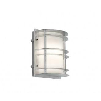 NORLYS 1600GA | Stockholm-NO Norlys zidna svjetiljka 1x LED 800lm 3000K IP54 sivo, opal