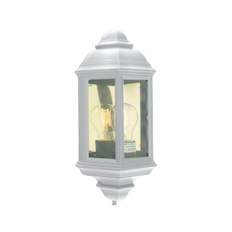 NORLYS 169W | Roma-NO Norlys zidna svjetiljka 1x E27 IP54 bijelo, prozirno