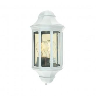 NORLYS 175W | Genova-NO Norlys zidna svjetiljka 1x E27 IP54 bijelo, prozirno