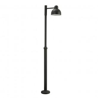 NORLYS 1914GR | Koster Norlys podna svjetiljka 236cm s podešavanjem visine 1x LED 2000lm 3000K IP54 grafit