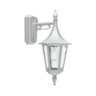 NORLYS 2591W | Rimini Norlys zidna svjetiljka 1x E27 IP54 bijelo, prozirno