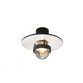 NORLYS 271B | Bergen-NO Norlys zidna, stropne svjetiljke svjetiljka 1x E27 IP55 crno, prozirno