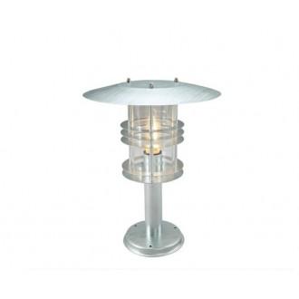 NORLYS 287GA | Stockholm-NO Norlys podna svjetiljka 47,5cm 1x E27 IP54 sivo, prozirno