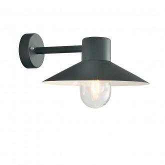 NORLYS 290B | Lund-NO Norlys zidna svjetiljka 1x E27 IP55 crno, prozirno
