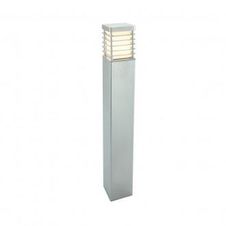 NORLYS 296GA | Halmstad Norlys podna svjetiljka 85cm 1x E27 IP65 sivo, opal