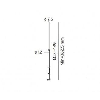 NORLYS 3006GR | Pillar-NO Norlys osovina rasvjete rezervni dijelovi s podešavanjem visine IP65 grafit
