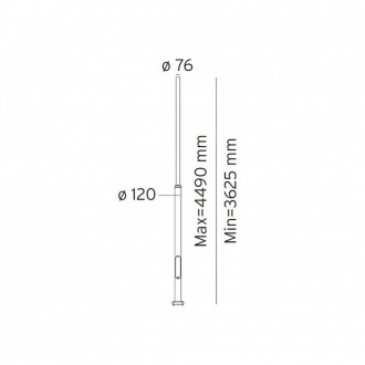 NORLYS 3007AL | Pillar-NO Norlys osovina rasvjete rezervni dijelovi s podešavanjem visine IP65 aluminij