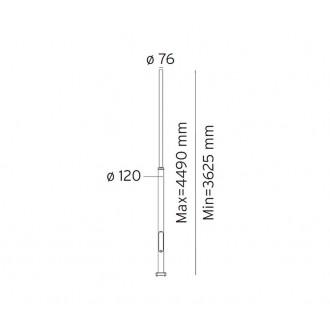 NORLYS 3007GR | Pillar-NO Norlys osovina rasvjete rezervni dijelovi s podešavanjem visine IP65 grafit