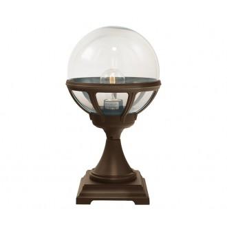 NORLYS 312BC | Bologna Norlys podna svjetiljka 43,5cm 1x E27 IP54 antik crno, bakar, prozirno