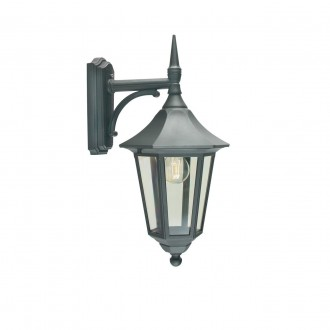 NORLYS 351B | Modena-NO Norlys zidna svjetiljka 1x E27 IP54 crno, prozirno