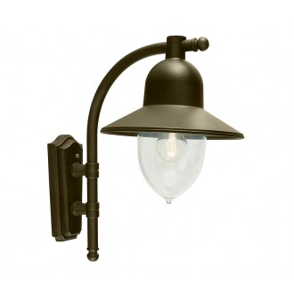 NORLYS 370BD | Como-NO Norlys zidna svjetiljka 1x E27 IP54 antik crno, zlatno, prozirno