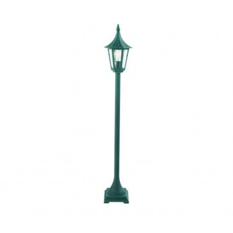 NORLYS 404BG | Rimini Norlys podna svjetiljka 114cm 1x E27 IP54 antik crno, zeleno, prozirno