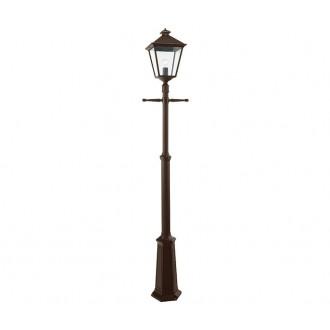 NORLYS 491BC | London-NO Norlys podna svjetiljka 191cm s podešavanjem visine 1x E27 IP54 antik crno, bakar, prozirno