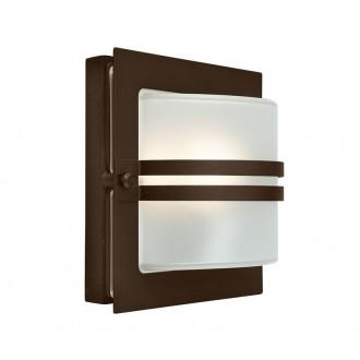 NORLYS 651BC | Bern Norlys zidna svjetiljka 1x E27 IP54 antik crno, bakar, acidni