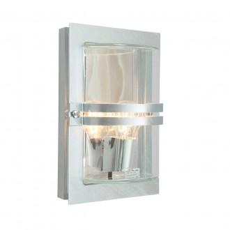 NORLYS 660GA | Basel Norlys zidna svjetiljka 1x E27 IP54 sivo, prozirno